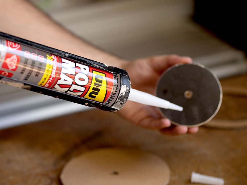 heimwerken kleben basteln bauen diy uhu kleber lampe aus karton poly max