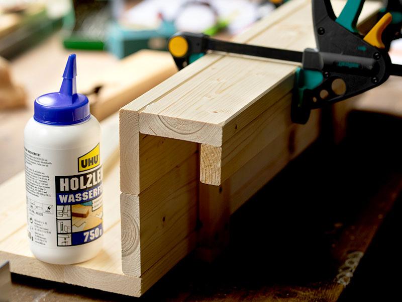 heimwerken kleben basteln bauen diy uhu kleber balkonablage